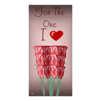 A Dozen Red Roses Poster (Valentine)