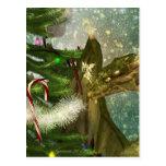 A Dragon and Fairies Christmas Post Cards