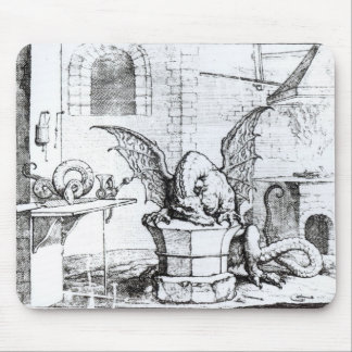 A Dragon in a Workshop Mouse Pad