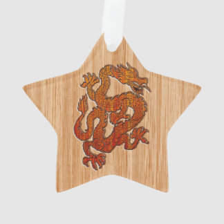 A Dragon in Bamboo style Ornament