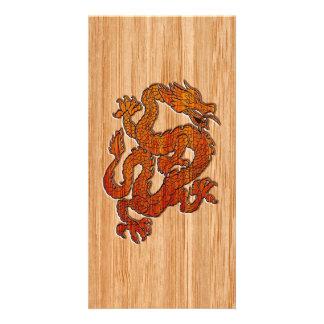 A Dragon in oriental Bamboo Card