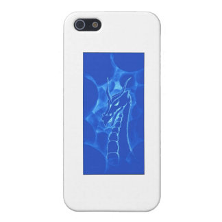 A dragon in smoke (blue) iPhone SE/5/5s case