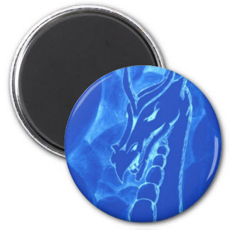 A dragon in smoke (blue) magnet