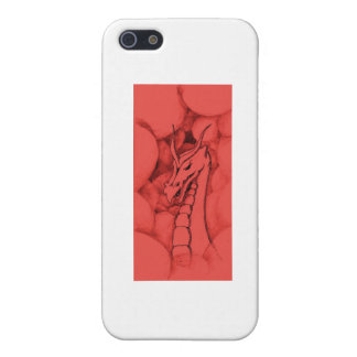 A dragon in smoke (red) cover for iPhone SE/5/5s