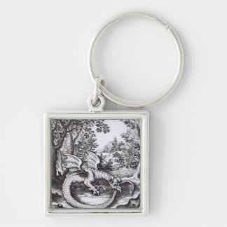 A Dragon in the Forest Keychain