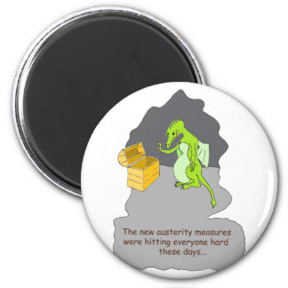 A Dragons Austerity 2 Inch Round Magnet