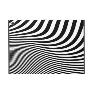 A dramatic B&W abstract stripe design accent. Cover For iPad Mini