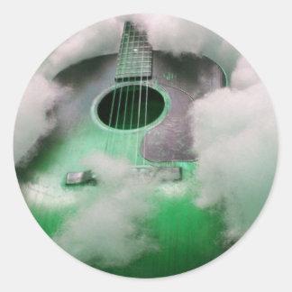 a dream in green classic round sticker