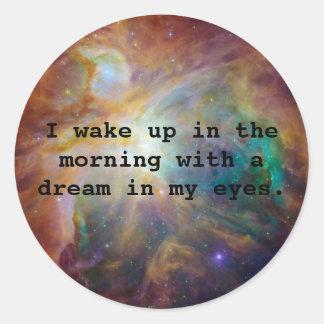A Dream in My Eyes Classic Round Sticker