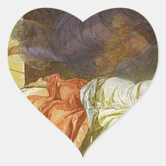 A Dream of a Girl Before a Sunrise Karl Bryullov Heart Sticker