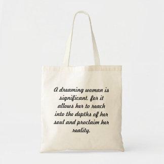 A Dreaming Woman Tote Bag