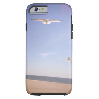a dreamy image of seagulls flying at the beach tough iPhone 6 case