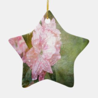 A Dreamy Pink Azalea Ceramic Ornament