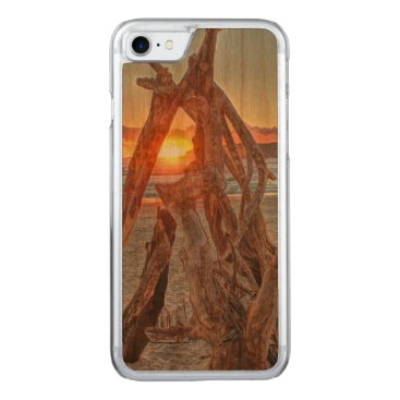 A Driftwood Sunrise Carved iPhone 7 Case