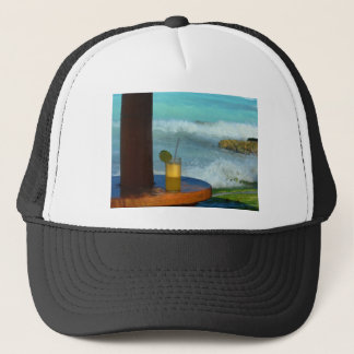A Drink At The Beach Trucker Hat
