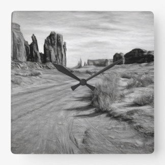 A Drive Through Monument Valley Clock
