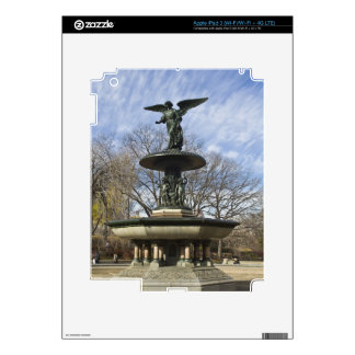 A dry winter Bethesda Fountain in Central Park Decal For iPad 3