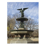 A dry winter Bethesda Fountain in Central Park Post Card
