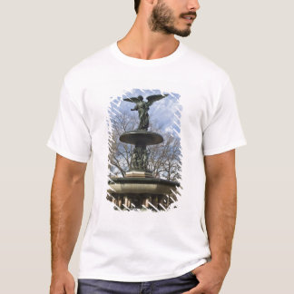 A dry winter Bethesda Fountain in Central Park T-Shirt
