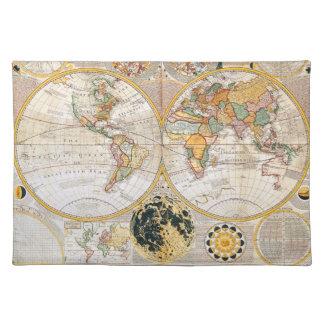 A Dual Hemisphere Map Placemat