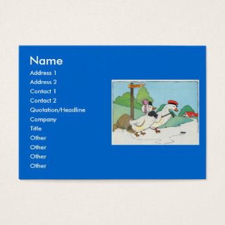 A duck and a drake, And a halfpenny cake Business Card