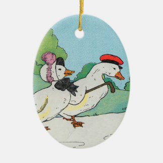 A duck and a drake, And a halfpenny cake Ceramic Ornament