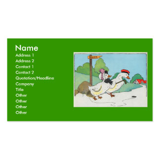 A duck and a drake, And a halfpenny cake Double-Sided Standard Business Cards (Pack Of 100)