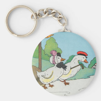 A duck and a drake, And a halfpenny cake Keychain