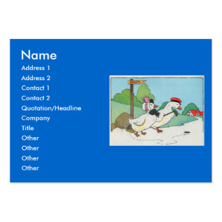A duck and a drake, And a halfpenny cake Large Business Cards (Pack Of 100)