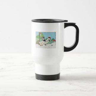 A duck and a drake, And a halfpenny cake Travel Mug