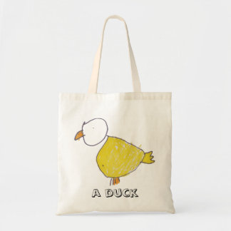 A Duck Budget Tote Canvas Bag