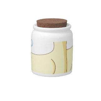 a duck candy jar