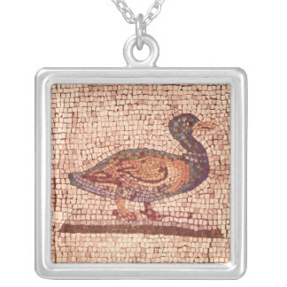 A Duck, detail from Orpheus Charming the Animals Square Pendant Necklace