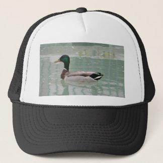 A duck hat. trucker hat