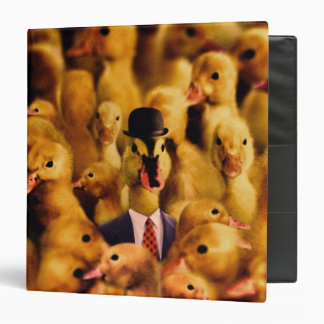 A Duck In A Bowler Hat And Suit And Tie Binder