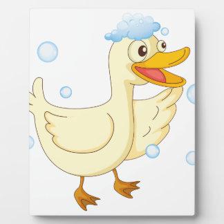 a duck photo plaque