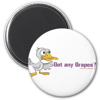 A duck walks into a bar... 2 inch round magnet