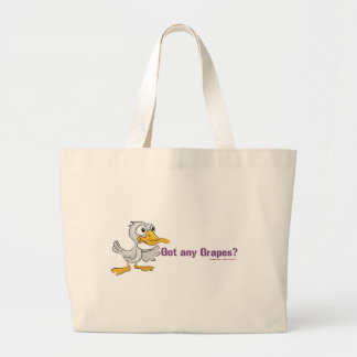 A duck walks into a bar... large tote bag