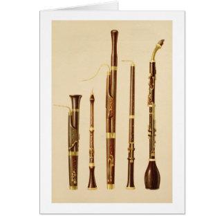 A dulcian, an oboe, a bassoon, an oboe da caccia a greeting card