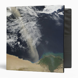 A dust plume 3 ring binder