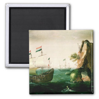 A Dutch Merchant Ship off a Rocky Coast Magnets