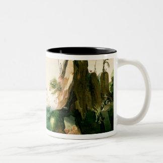 A Dutch Merchant Ship off a Rocky Coast Two-Tone Coffee Mug