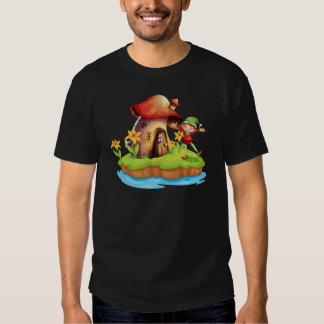 A dwarf outside a mushroom house T-Shirt
