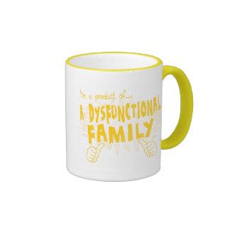 a dysfunctional family ringer coffee mug