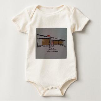 A Eichler home on a T #1 Baby Bodysuit