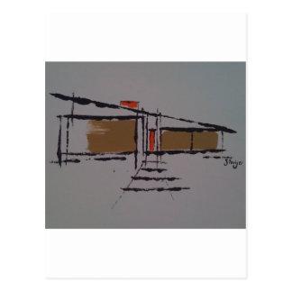 A Eichler home on a T #1 Postcard