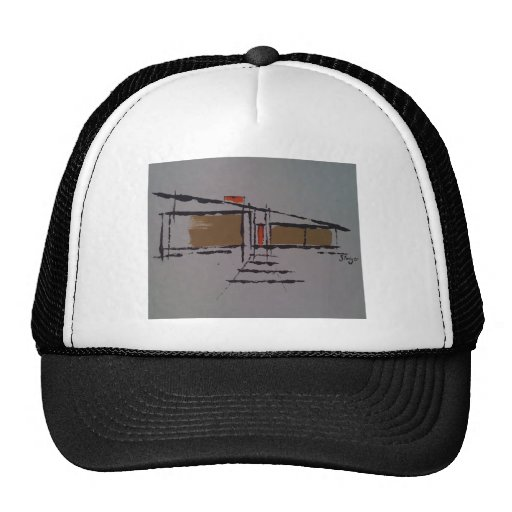 A Eichler home on a T #1 Trucker Hat