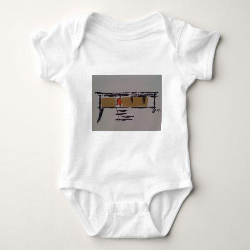 A Eichler home on a T #3 Baby Bodysuit