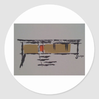 A Eichler home on a T #3 Classic Round Sticker