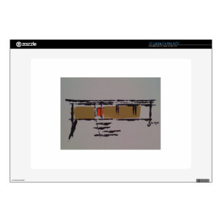 """A Eichler home on a T #3 15"""" Laptop Decals"""